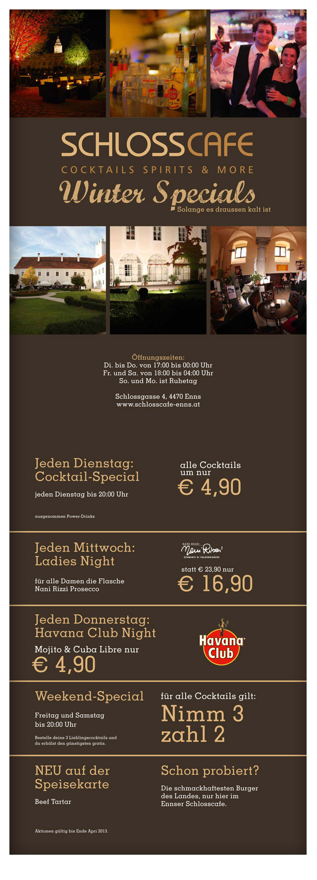 Winter-Specials 2012-2013 | Schlosscafe Enns